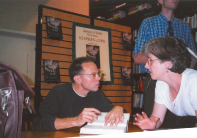 Stephen Cope's first book signing at Barnes and Noble.