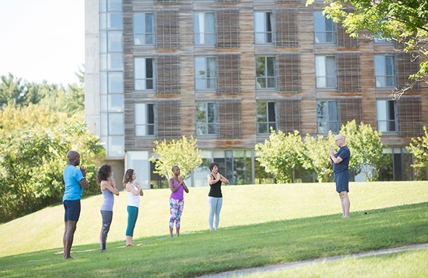 Stephen Cope teaching on Kripalu grounds